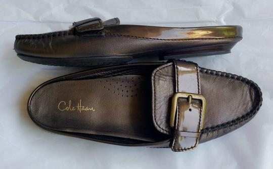 Cole Haan Leather Flats Bronze Mules Image 2