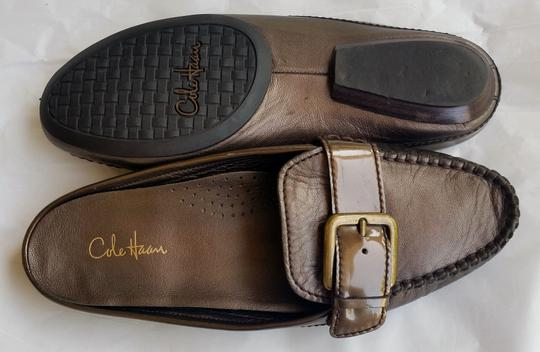 Cole Haan Leather Flats Bronze Mules Image 3