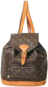 Louis Vuitton Mm Leather Canvas Backpack