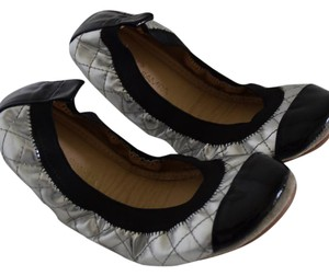 Yosi Samra silver and black Flats