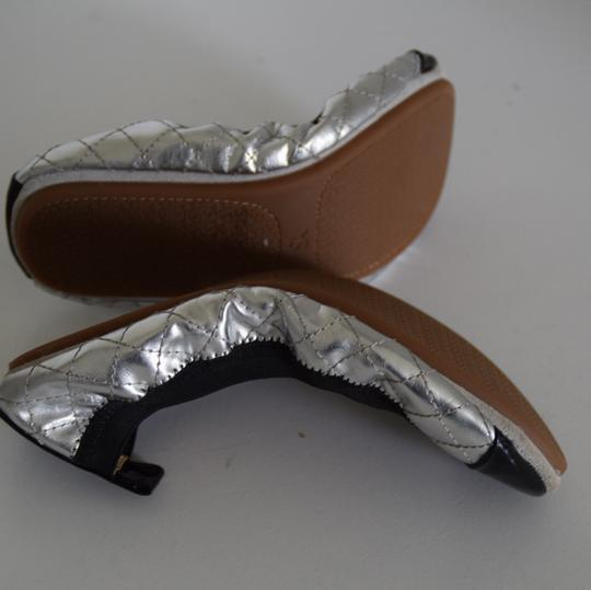 Yosi Samra silver and black Flats Image 1