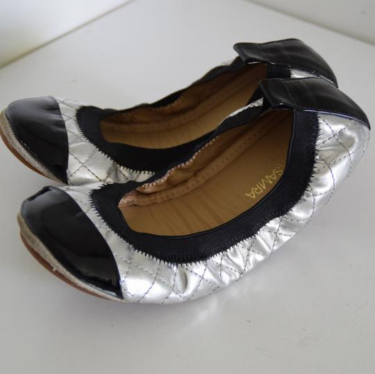 Yosi Samra silver and black Flats Image 2