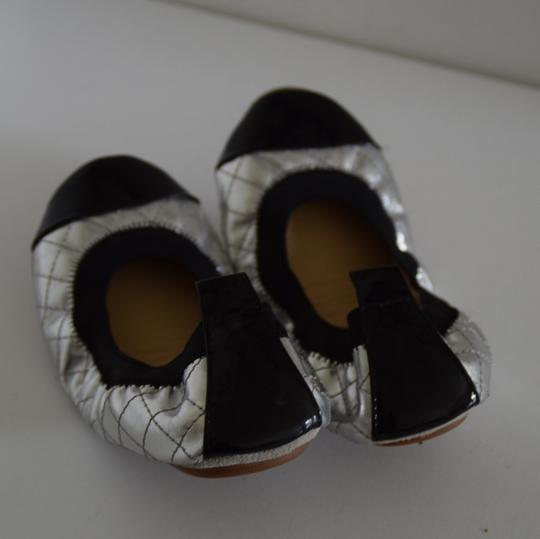 Yosi Samra silver and black Flats Image 3