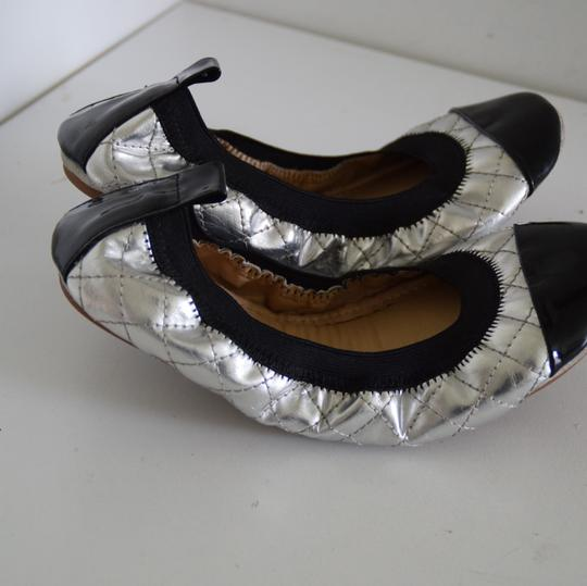 Yosi Samra silver and black Flats Image 6