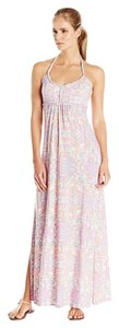 Pink, Multi Maxi Dress by Soybu Halter Maxi Beach