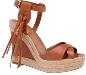 Valentino Tan Camel Wedges