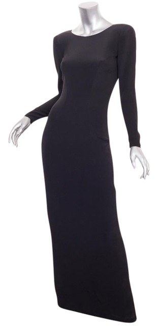 Preload https://img-static.tradesy.com/item/21380850/chanel-black-haute-couture-collectiblevintage-long-sleeve-v-back-maxi-long-formal-dress-size-0-xs-0-1-650-650.jpg