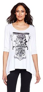 Antthony Shark Bite Cherubs Graphics White Tunic