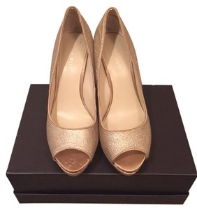 Nine West Cinderella Sparkle Gold Pumps