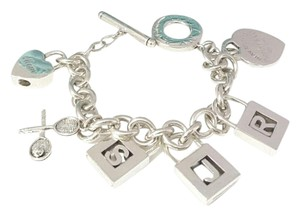 Tiffany & Co. Tiffany & Co 6 Charm LetterS,J,R,MOM,Tennis Racket,Heart Tag Bracet