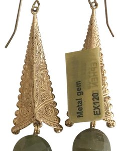 Stephen Dweck Stephen Dweck Metal Garnet fish hook earrings