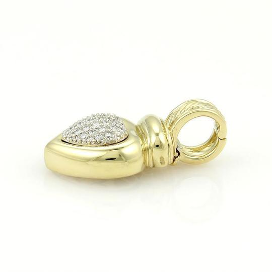 David Yurman 18k Yellow Gold & Pave Diamonds Heart Pendant Image 1