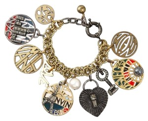 Lanvin NEW! Lanvin-Paris Charm Bracelet NYC Vegas Monaco Paris France Gold