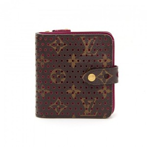 Louis Vuitton Louis Vuitton Perforated Monogram Canvas Pink Leather Wallet LM822