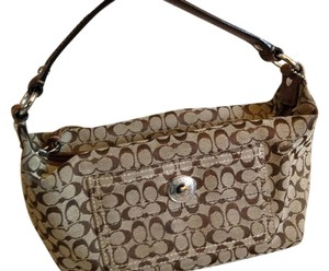 Coach Monogram Satchel in brown and beige