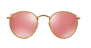 Ray-Ban ROUND PINK MRROR SUNGLASSES - RB 3447 112/Z2 -