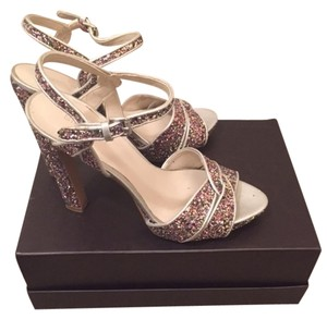 Nine West Clubbing Glitter / Pink Platforms
