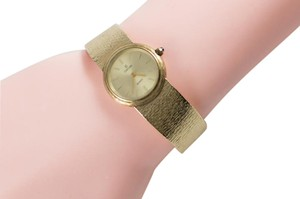 "Concord 1960s CONCORD 14K SOLID GOLD LADIES QUARTZ WATCH 35gms 6.5"" BAND"
