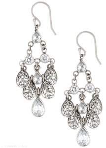 Silpada Silpada Cascading Sterling Silver and CZ Earrings