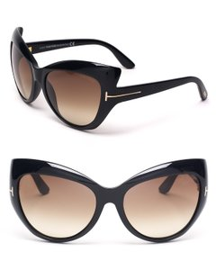 Tom Ford NEW Tom Ford Bardot Black Oversized Cat Eye Sunglasses