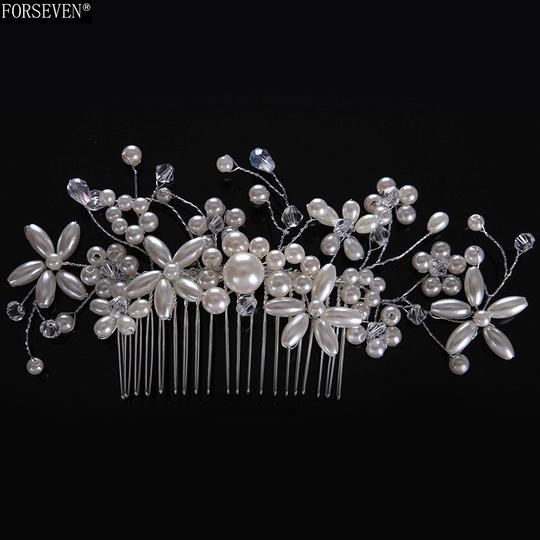 Whiteflower Silver Called Vintage Romantic Tiara Comb Diamond Sterling Silver Hair Accessory Image 2