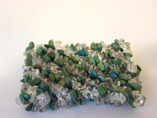 Mine Finds by Jay King Mine Finds by Jay King Green Turquoise and Resin Stretch Bracelet Image 1