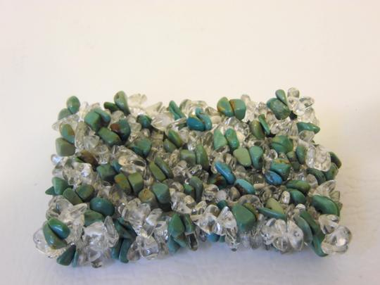 Mine Finds by Jay King Mine Finds by Jay King Green Turquoise and Resin Stretch Bracelet Image 7