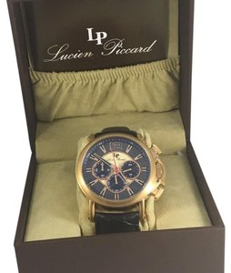 Lucien Piccard lucien piccard chronograph rose gold tone men's watch.
