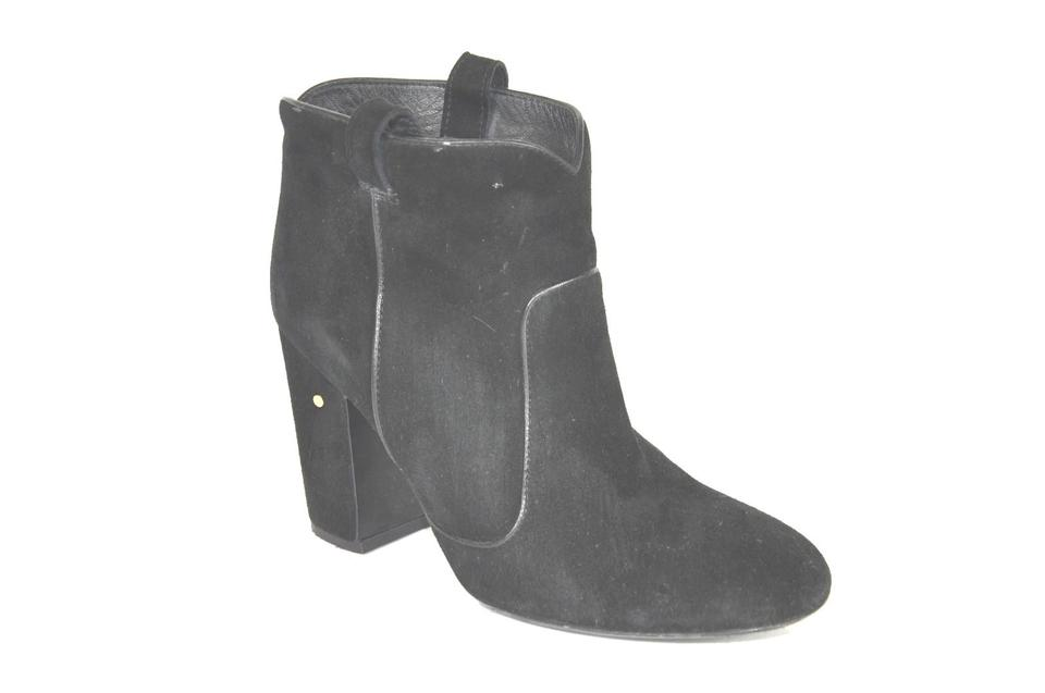 ladies Laurence Selected Dacade Black Suede Boots/Booties Selected Laurence materials e3df43