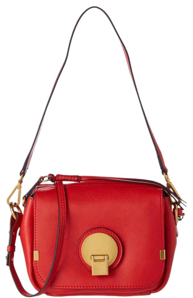 d1603bbdf9fd Chloé Indy Camera Poppy Red Leather Cross Body Bag - Tradesy