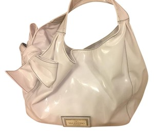Valentino Nuage Patent Leather Bow Hobo Bag