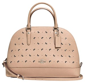 Coach Sierra Perforated Satchel in Beechwood