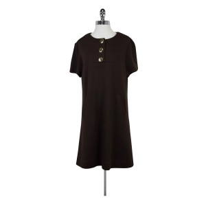 Tory Burch short dress Brown Shift With Gold Button on Tradesy