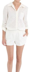 Diane von Furstenberg Button Down Shirt Ivory
