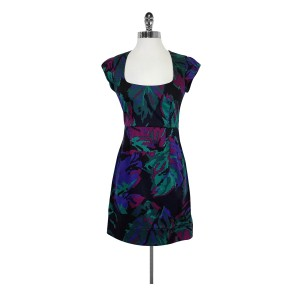 French Connection short dress Cap Sleeve Abstract Print on Tradesy