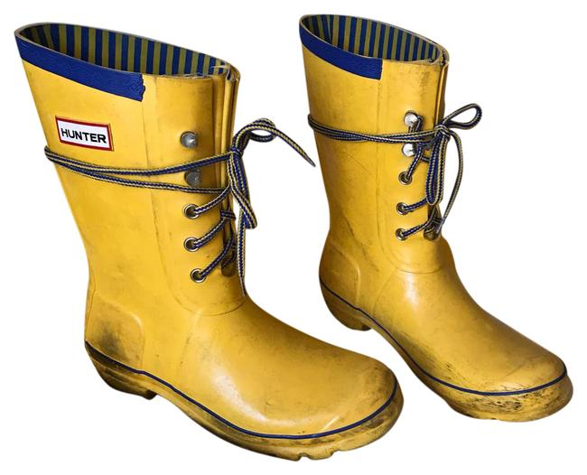 Item - Yellow Rain Wellies Festival Boots/Booties Size US 9 Regular (M, B)