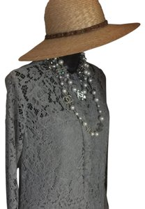 Dolce&Gabbana Dolce & Gabbana Vintage Style Wide Brim with Brass Chain and silk ribbon