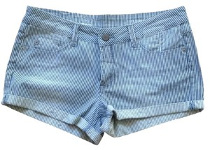 Gray Shorts Denim Blue White