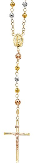 Preload https://img-static.tradesy.com/item/21382838/yellow-white-rose-tri-color-14k-5mm-puff-ball-rosary-26-necklace-0-1-540-540.jpg