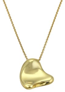 Tiffany & Co. Peretti 18k Yellow Gold Full Curved Heart Pendant Necklace
