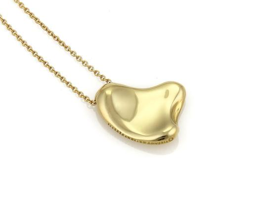 Tiffany & Co. Peretti 18k Yellow Gold Full Curved Heart Pendant Necklace Image 1