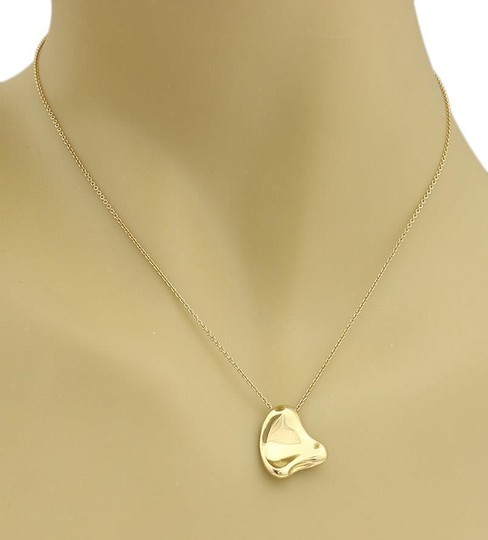 Tiffany & Co. Peretti 18k Yellow Gold Full Curved Heart Pendant Necklace Image 4