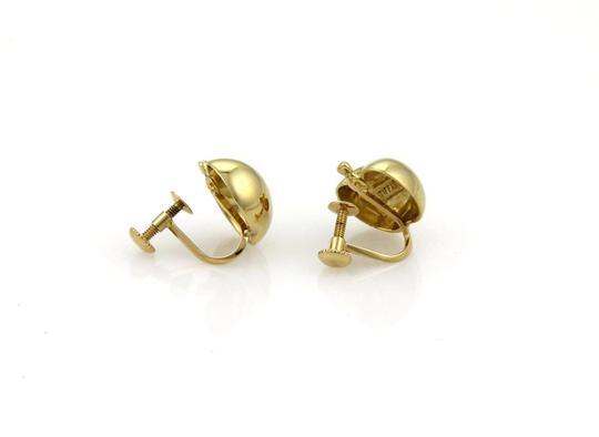 Tiffany & Co. Vintage Classic 18k Yellow Gold Apple Screw Back Earrings Image 1