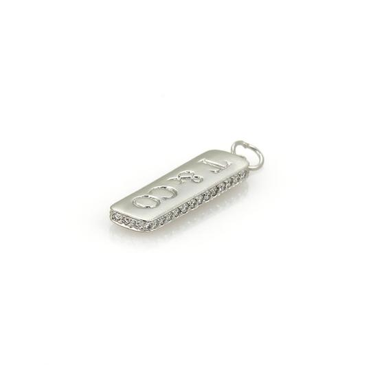 Tiffany & Co. Logo Diamond Platinum Vertical Bar Pendant Image 2