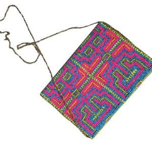 Anthropologie multicolored Clutch