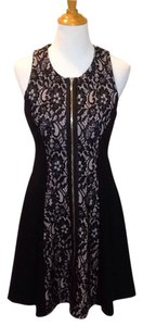 Juicy Couture Zipper Lace Round Neck Sleeveless Dress