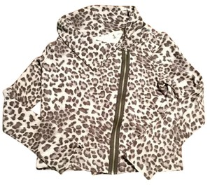 Bordeaux Asymetrical Size M Cheetah Print Sweater