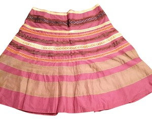 The Limited Skirt Multi burgundy, gold and orange