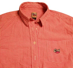 Cruel Girl Western Shirt Plaid Size M Ladies Button Down Shirt Red, white and blue