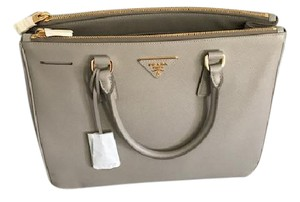 Prada Saffiano Lux Tote in Light Grey (Pomice)
